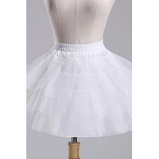 Petticoat de mariage Court À la mode Fort net Sans cadre Longue