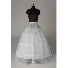 Petticoat de mariage la norme Trois jantes Robe pleine Coupe de dentelle