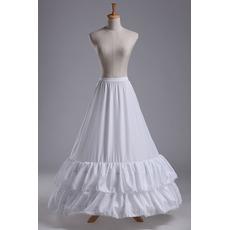 Petticoat de mariage Robe de mariée Taffetas en polyester Deux jantes