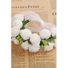 Double couche bijoux décoration de cheveux pour la photographie de mariage anneau doux