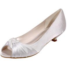 Chaussures de mariée chaussures de mariage bouche de poisson chaussures de soirée en satin
