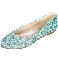 Sequin chaussures plates pour femmes chaussures de mariage en argent chaussures de demoiselle d'honneur chaussures de mariage pour femmes enceintes