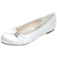 Chaussures plates chaussures de mariage de maternité en satin chaussures de mariage de taille plus