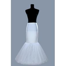 Petticoat de mariage Matériau élastique Jantes simples Robe pleine