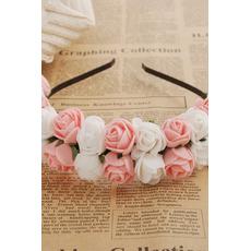 Les enfants de la mariée et le bandeau de la jeune fille de robe de mariage de voyage
