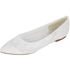 Transparent dentelle creuse pompes élégantes banquet mariage chaussures plates femmes