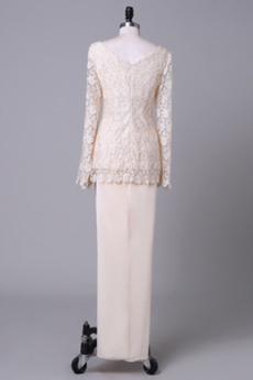 Robe mères Fermeture à glissière Sablier Hiver Un Costume Elégant