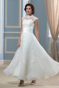 Robe de mariage Haute Couvert Organza Rivage Manquant Luxueux