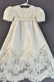 Robe de fille de fleur taille haute Princesse Manche de T-shirt