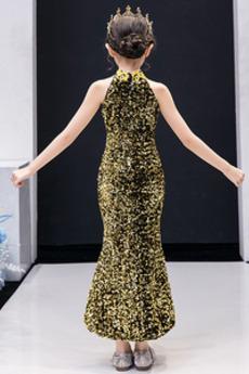 Robe de fille de fleur Chic Asymétrique Manquant Asymétrique