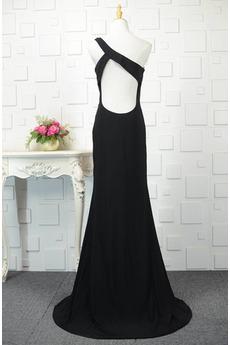 Robe de bal Scintillait Ballon Naturel taille Noir Maigre Une épaule