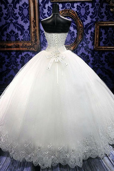 Robe de mariée Tulle Eglise Sans Manches Naturel taille Laçage