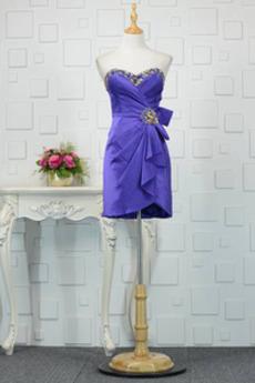Robe de cocktail Longueur de genou Vintage Fourreau plissé Maigre