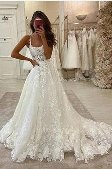 Robe de mariée Tulle Petites Tailles Sans Manches Traîne Moyenne
