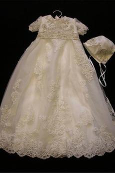 Robe de fille de fleur Cérémonie Petit collier circulaire Manquant