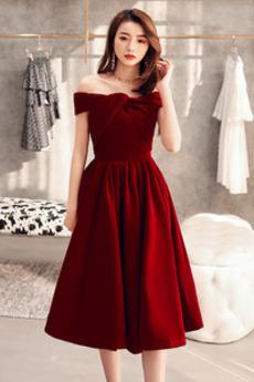 Robe de soirée Balançoire Rosée épaule Fourreau plissé Manquant