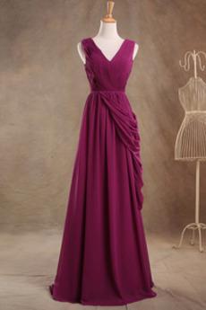 Robe de demoiselle d'honneur Luxueux Fermeture à glissière Mariage