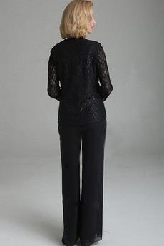 Robe mères Longueur Cheville Un Costume Luxueux Manche de T-shirt