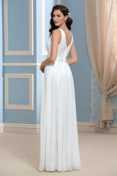 Robe de mariée Ruché Col Bateau Fermeture à glissière Dentelle
