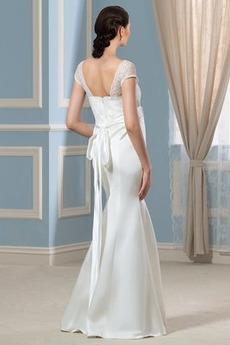 Robe de mariée Grossesse Taille haute Plage Manche Aérienne Elégant