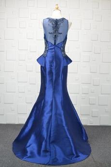 Robe de soirée Gaze Col en V Sage Sirène Fourreau Avec Bijoux