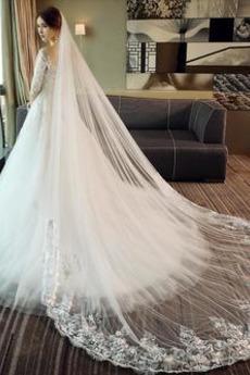 Robe de mariage Manche Demi Naturel taille Décalcomanie Elégant