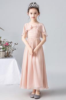 Robe de fille de fleur Corsage plissé Longueur Cheville Elégant