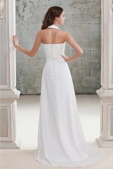 Robe de mariée Fourreau plissé a ligne Fermeture à glissière