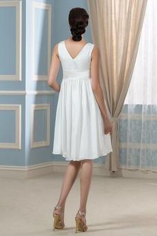 Robe de mariée Longueur de genou Fermeture à glissière Plage