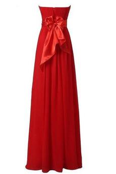 Robe de demoiselle d'honneur Chiffon taille haut Été haut bustier tube