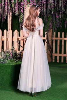 Robe de mariée Tulle Triangle Inversé Plage Elégant Manche Courte