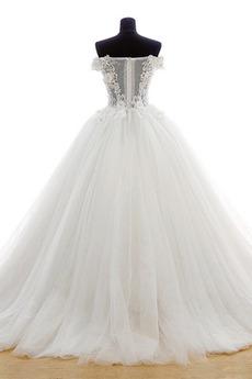 Robe de mariée Tulle Formelle Hiver Naturel taille Longue Princesse