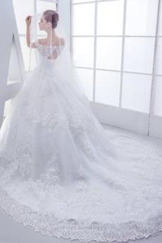 Robe de mariée Salle semi-couverte Dentelle Sablier Mancheron