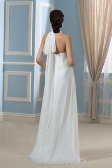 Robe de mariage Mousseline Elégant Orné de Nœud à Boucle Sans Manches