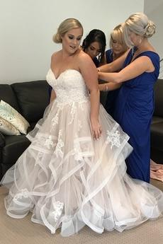 Robe de mariée Naturel taille Fermeture à glissière Printemps