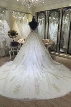 Robe de mariée Princesse Mancheron Décalcomanie Fermeture à glissière