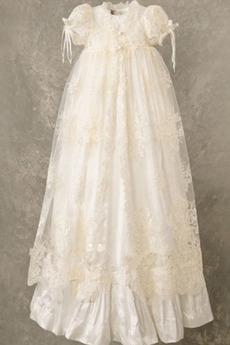 Robe de fille de fleur Naturel taille Manquant Cérémonie Haute Couvert