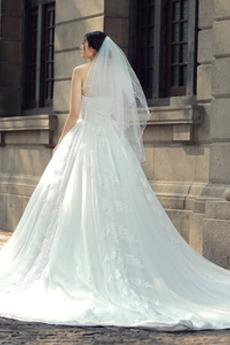Robe de mariée Eglise Manquant Satin aligne Glissière Sans Manches
