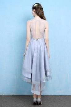 Robe de cocktail Asymétrique Organza Scintillait Corsage Avec Bijoux