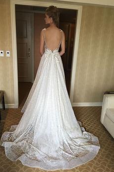 Robe de mariée Drapé Tulle Sans Manches Fermeture à glissière