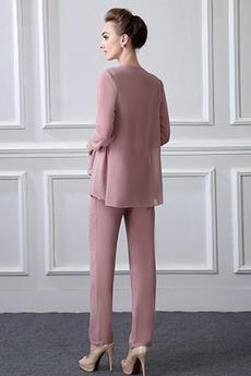 Robe mères Col Carré Elégant Manche de T-shirt Avec la veste