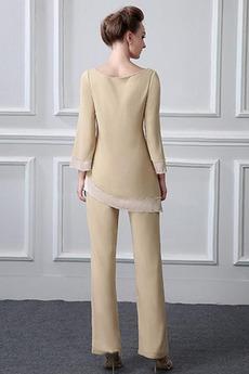 Robe mères Col Bateau Manche de T-shirt Haute Couvert Perle Naturel taille