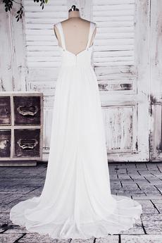 Robe de mariée Col en Cœur Sage Sans Manches Printemps noble