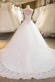 Robe de mariée Près du corps Froid Mode Satin Chapelle Naturel taille