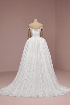 Robe de mariée Dentelle Fermeture à glissière Poire Automne aligne