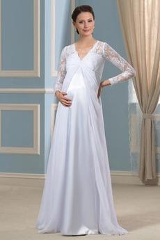 Robe de mariée Hiver taille haut Manche Aérienne À la masse Plus la taille