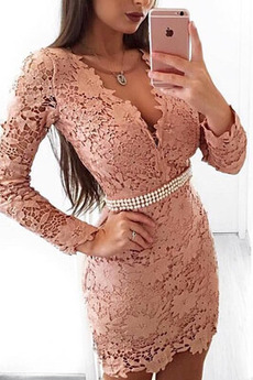 Robe de cocktail Dentelle Printemps Désirable Manquant Haut Bas