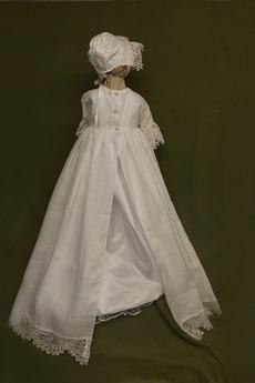 Robe de fille de fleur Princesse Médium Manche Demi Bouton Longue