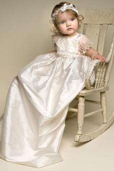 Robe de fille de fleur Formelle Nœud à Boucles Cérémonie Médium