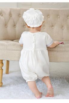 Robe de fille de fleur Longueur Mollet Col de chemise t Manquant